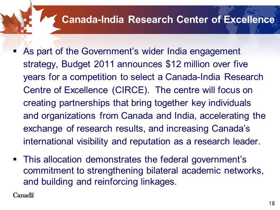 Canada-India Research Center of Excellence