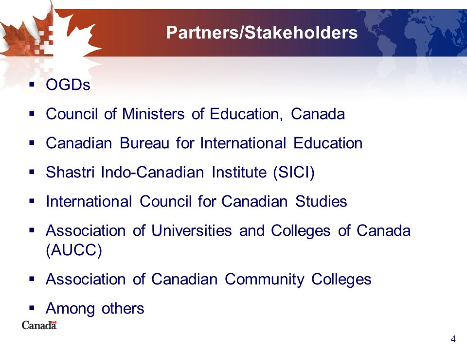 Partners/Stakeholders