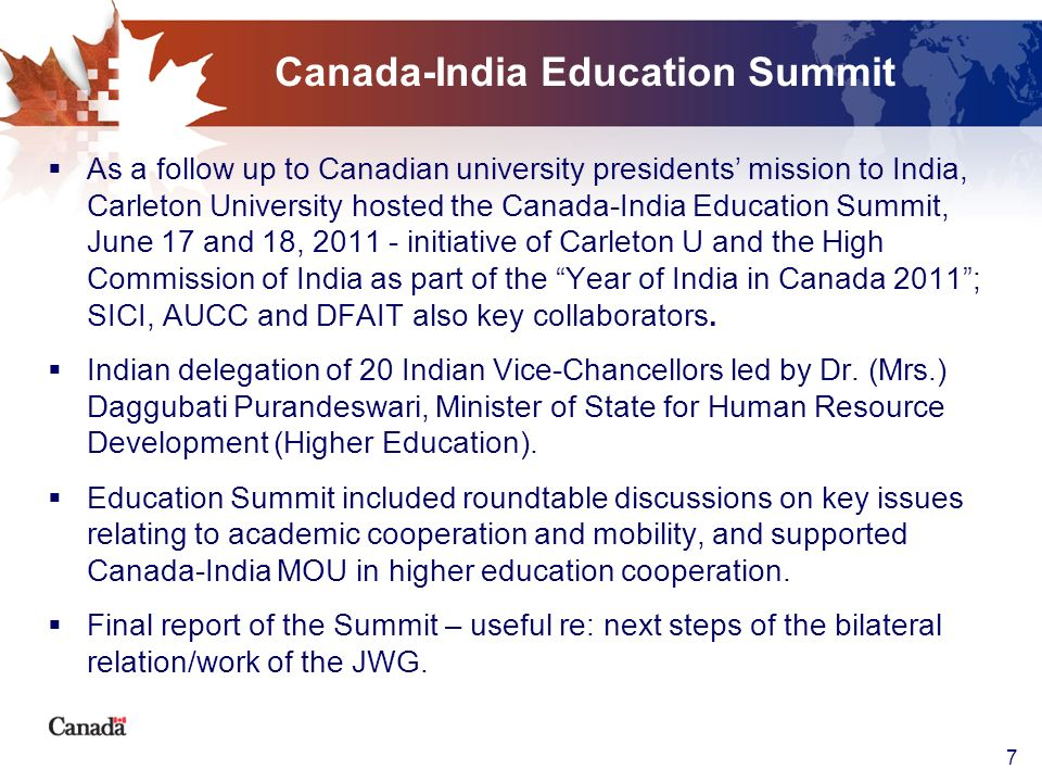 Canada-India Education Summit
