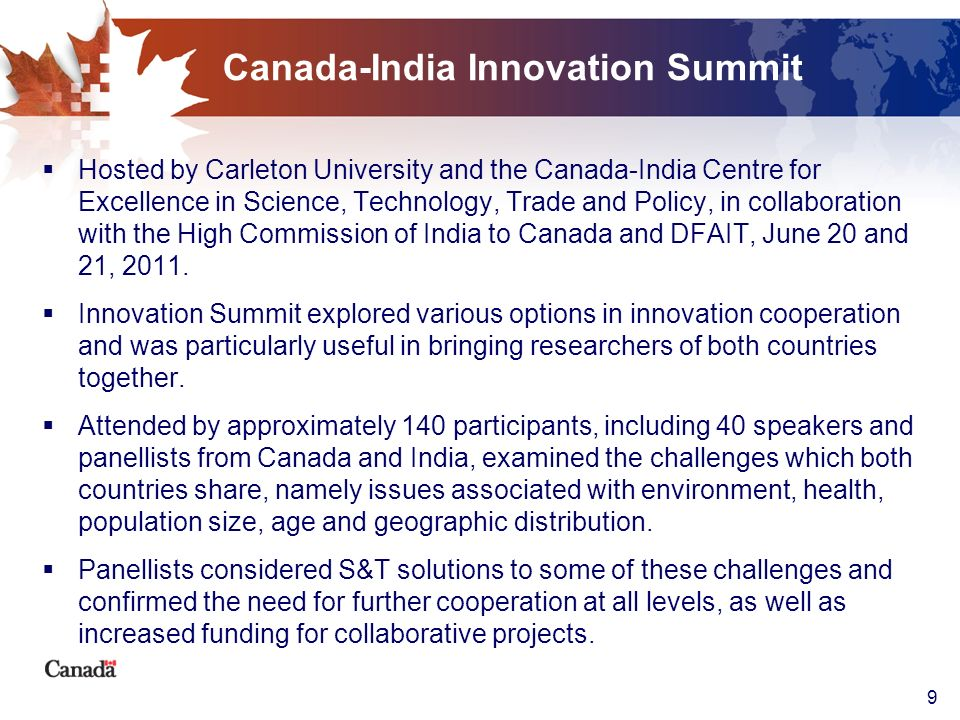 Canada-India Innovation Summit
