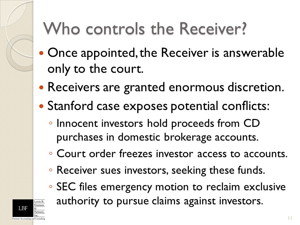 Who controls the Receiver