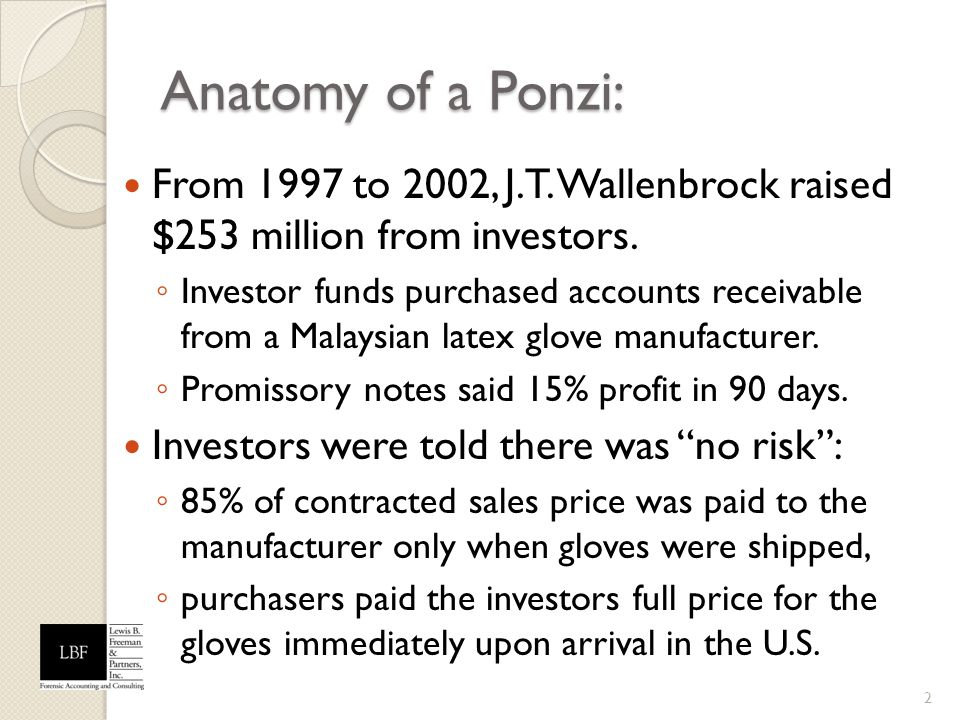 Anatomy of a Ponzi: From 1997 to 2002, J.T. Wallenbrock raised $253 million from investors.