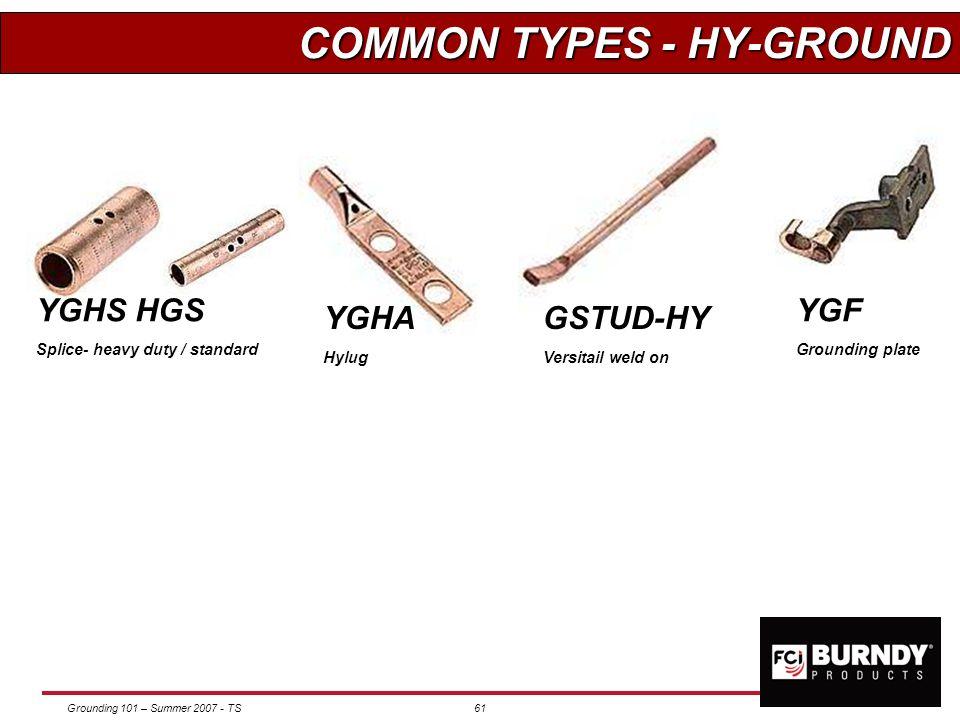 COMMON TYPES - HY-GROUND