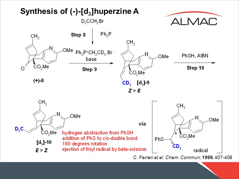 Synthesis of (-)-[d3]huperzine A