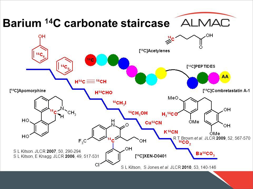 Barium 14C carbonate staircase