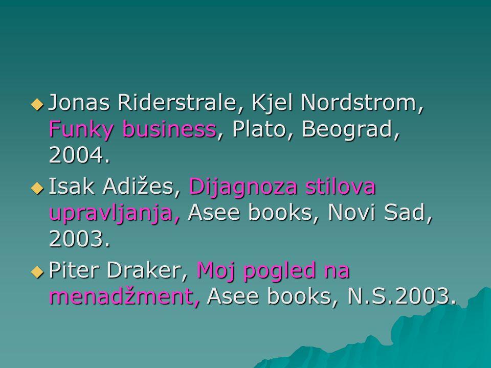 Jonas Riderstrale, Kjel Nordstrom, Funky business, Plato, Beograd, 2004.