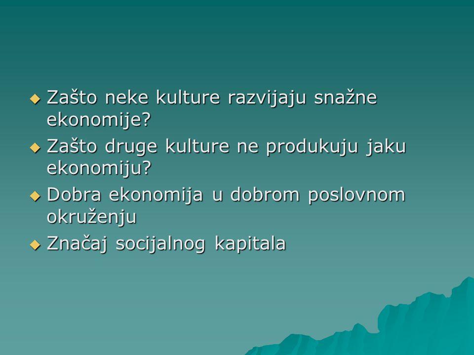 Zašto neke kulture razvijaju snažne ekonomije