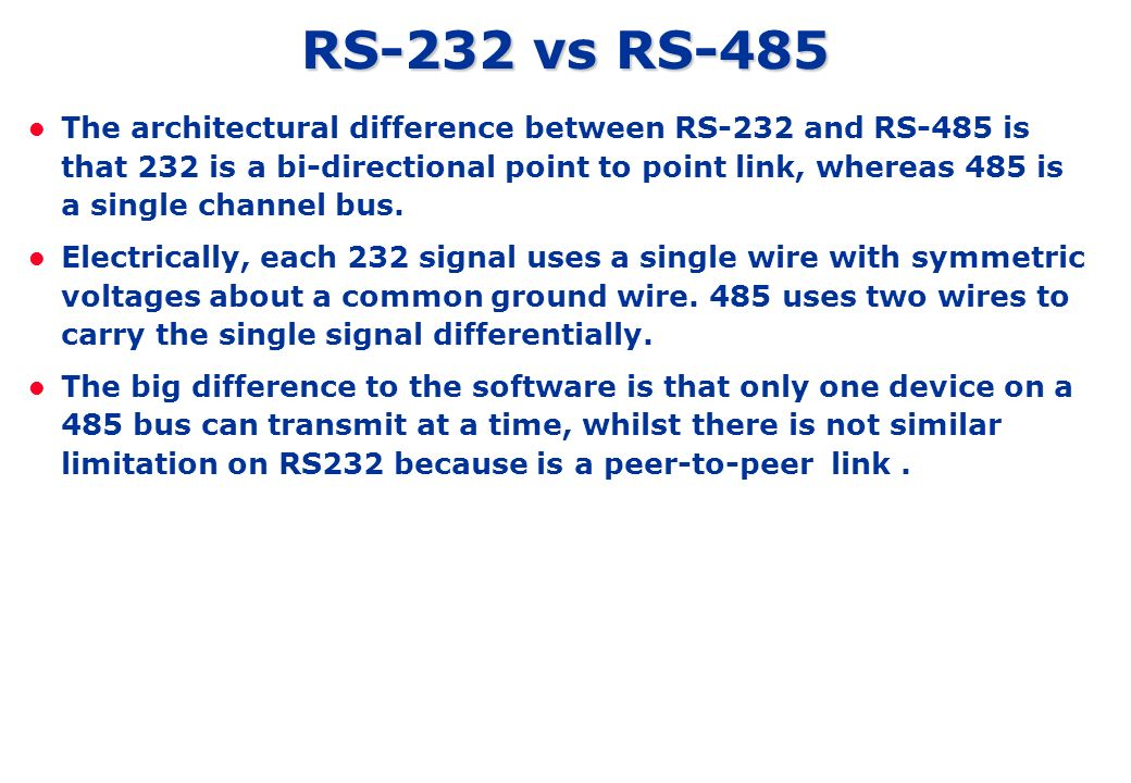 Rs232 and rs485 fundamental ppt video online download rs 232 vs rs 485 publicscrutiny Images