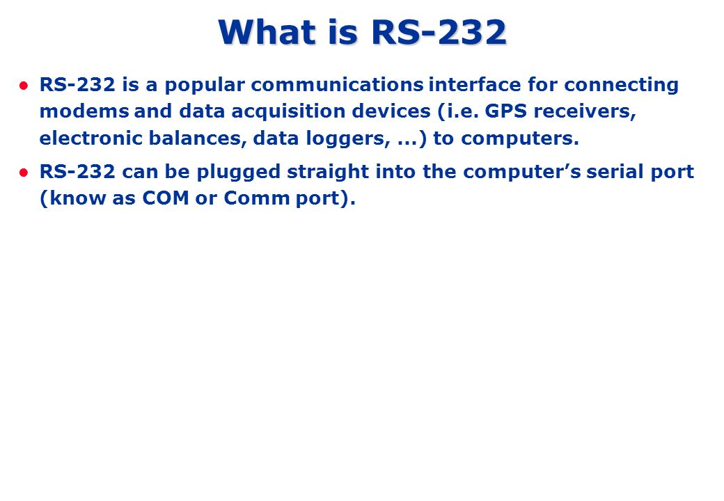 What is RS-232