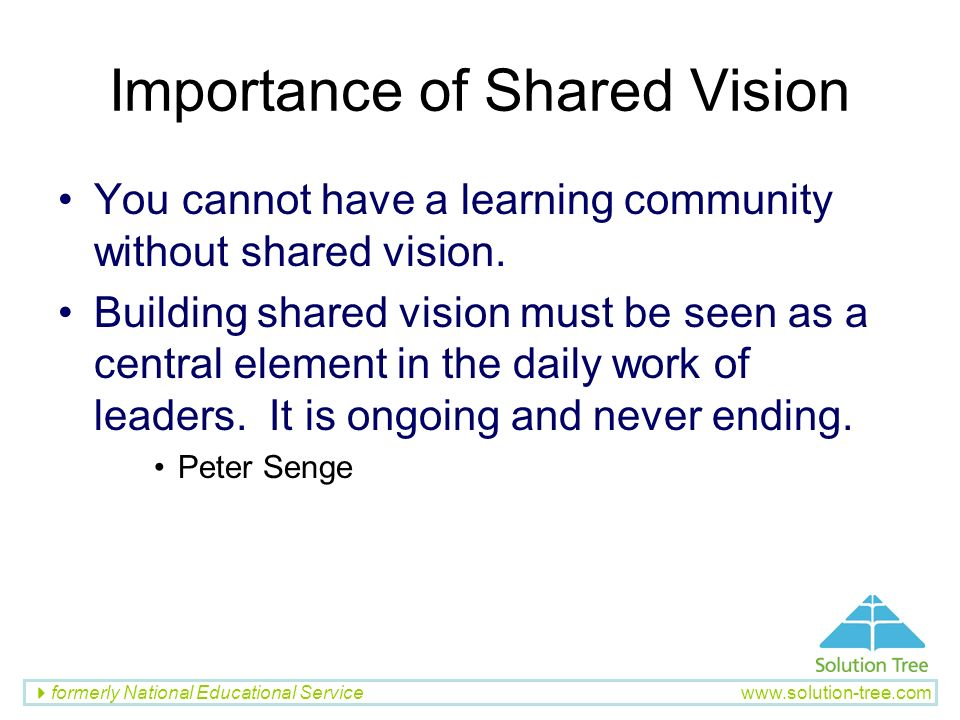 Importance of Shared Vision