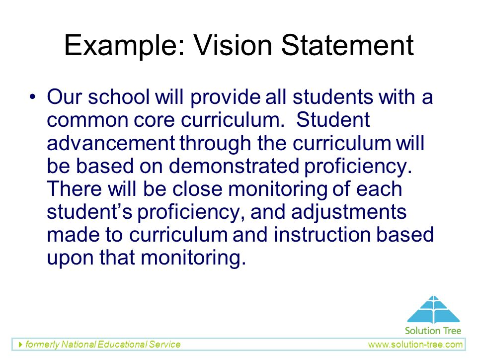 Example: Vision Statement