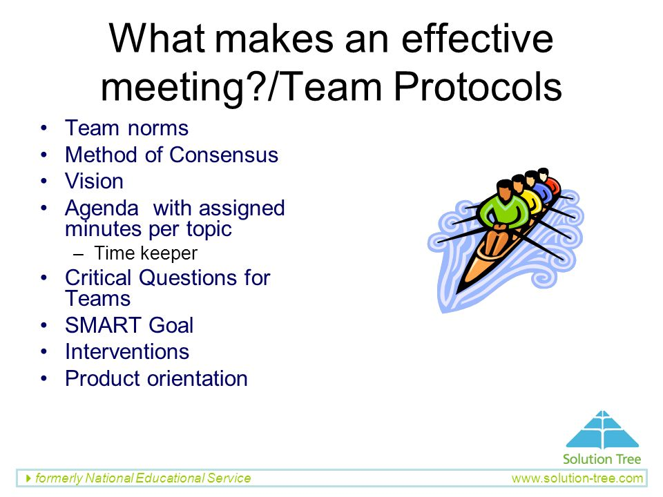 What makes an effective meeting /Team Protocols