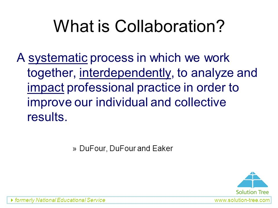 What is Collaboration