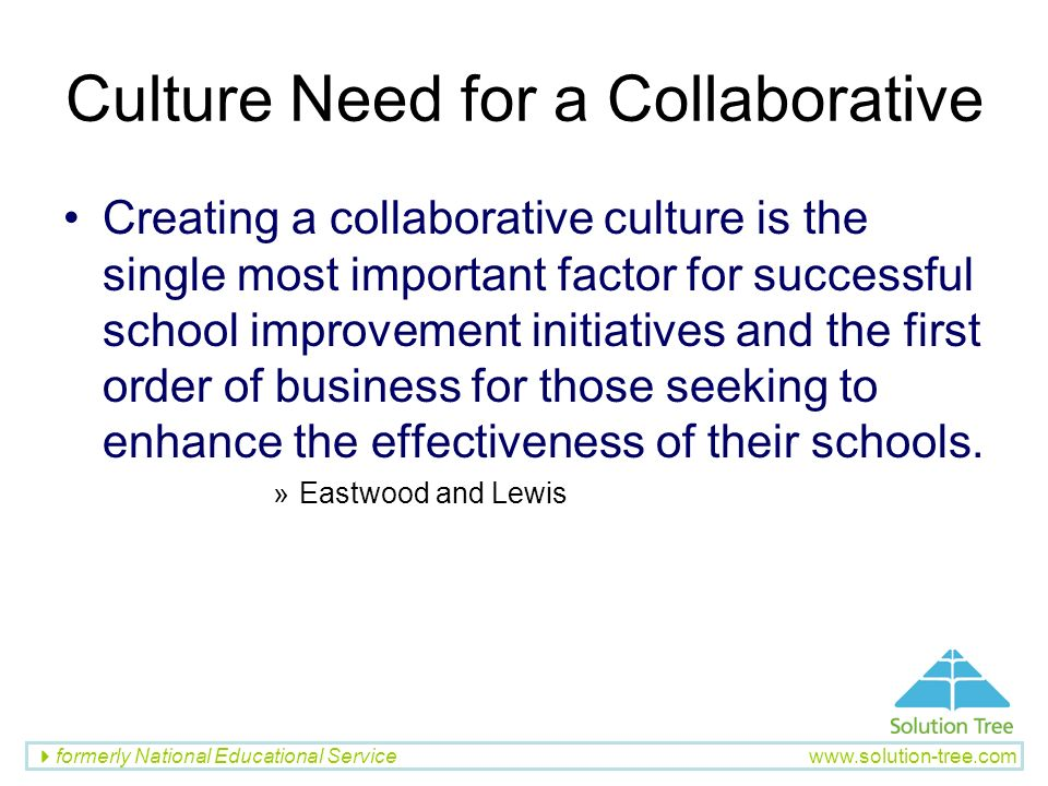 Culture Need for a Collaborative