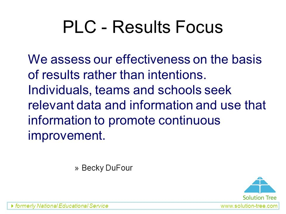 PLC - Results Focus