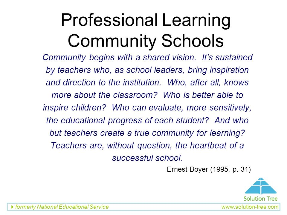 Professional Learning Community Schools