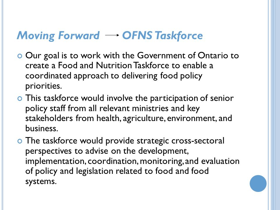 Moving Forward OFNS Taskforce