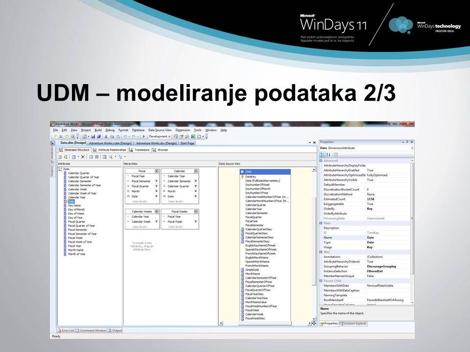 UDM – modeliranje podataka 2/3