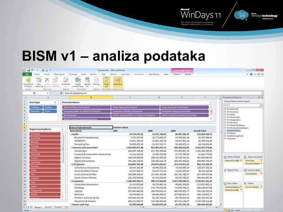 BISM v1 – analiza podataka