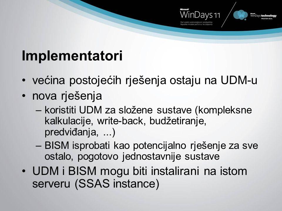 Implementatori većina postojećih rješenja ostaju na UDM-u
