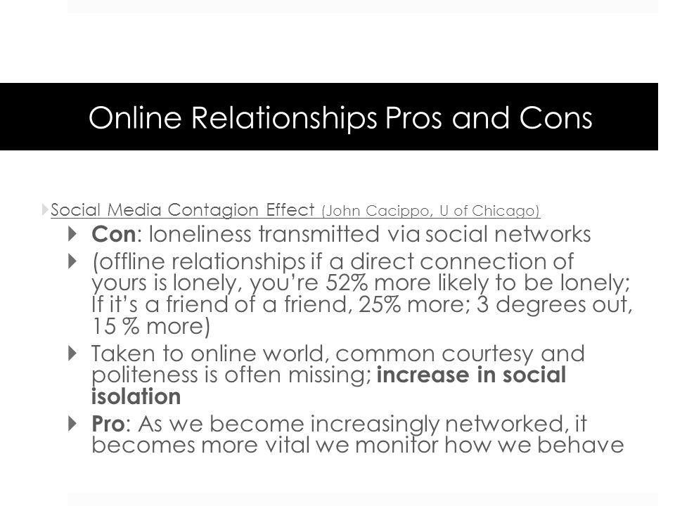 Online Relationships Pros and Cons