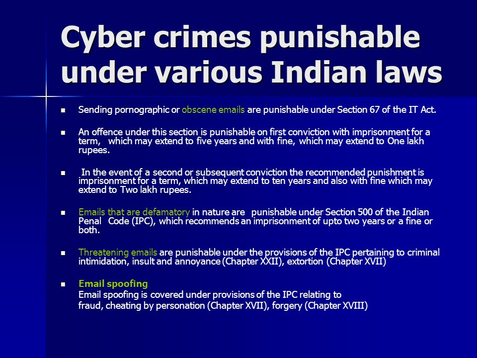 The Position of Cyber Crime in India