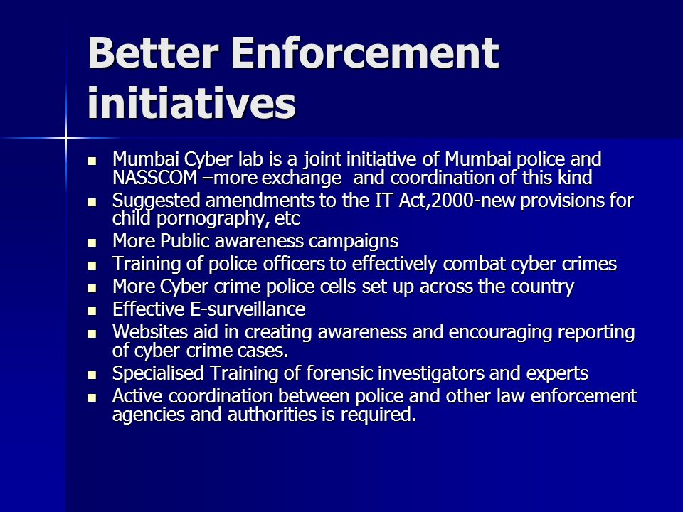 Better Enforcement initiatives