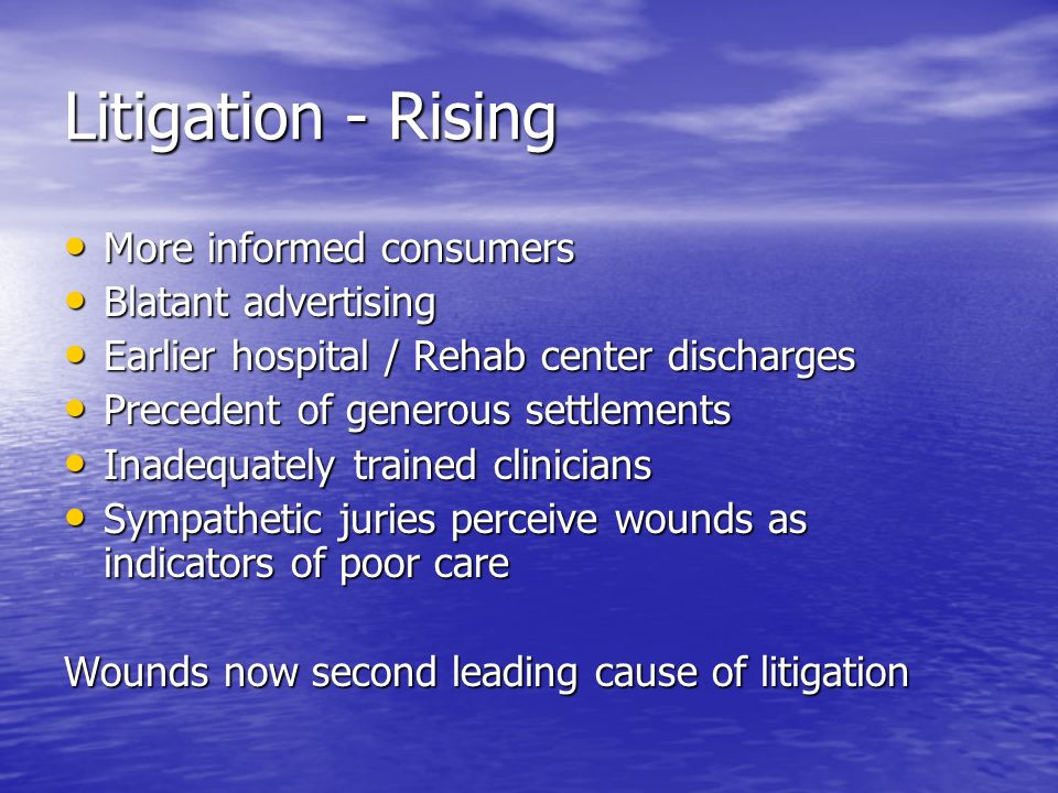 Litigation - Rising More informed consumers Blatant advertising