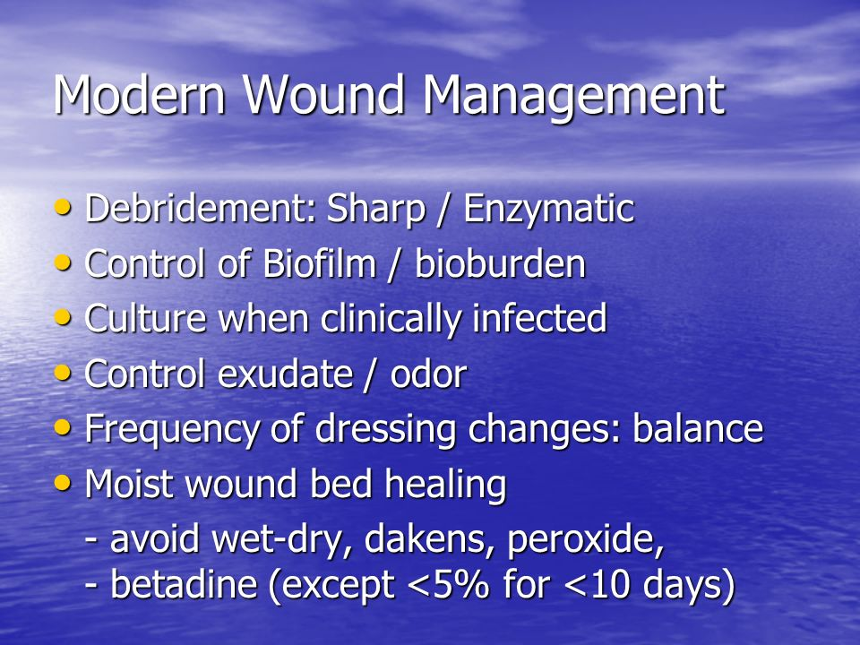 Modern Wound Management
