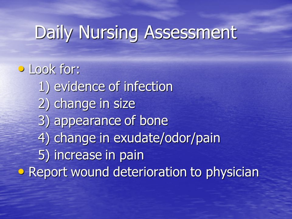 Daily Nursing Assessment