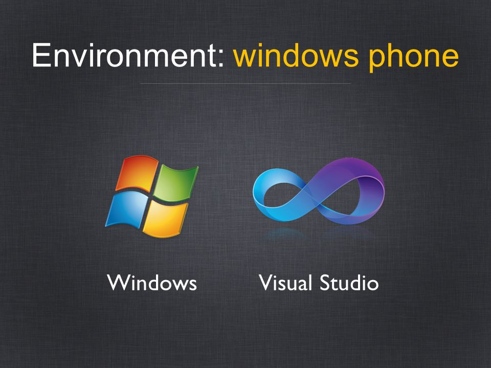 Environment: windows phone