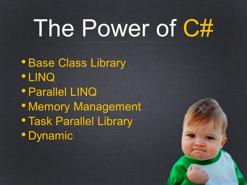 The Power of C# Base Class Library LINQ Parallel LINQ