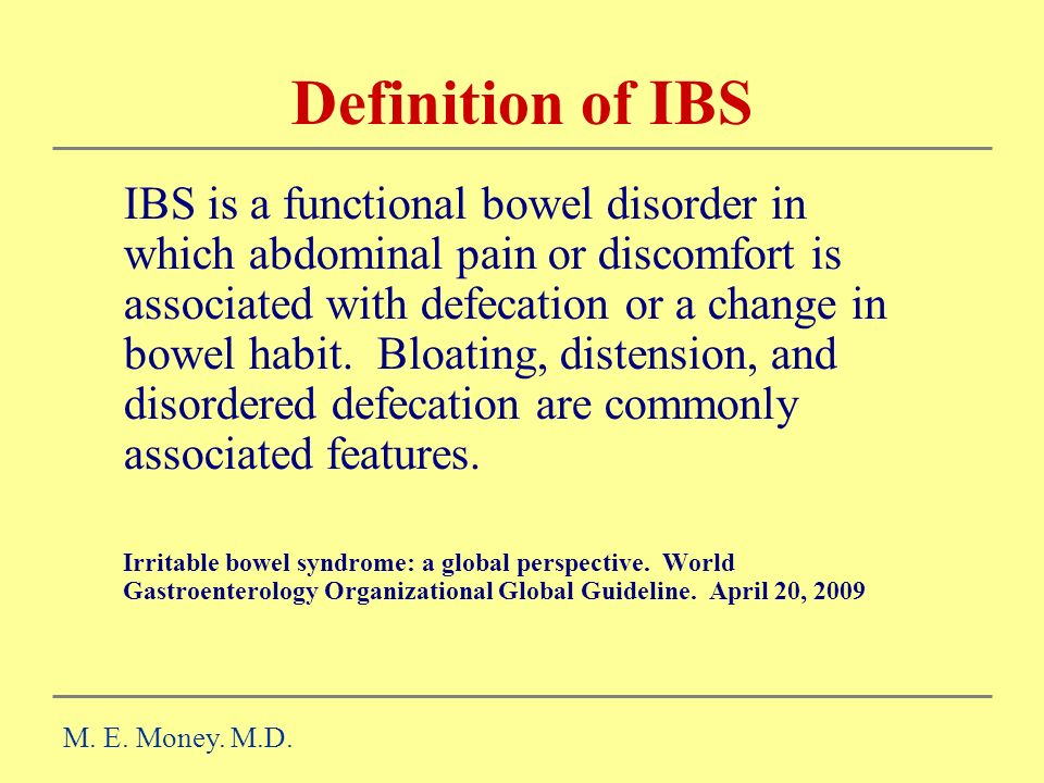 Definition of IBS