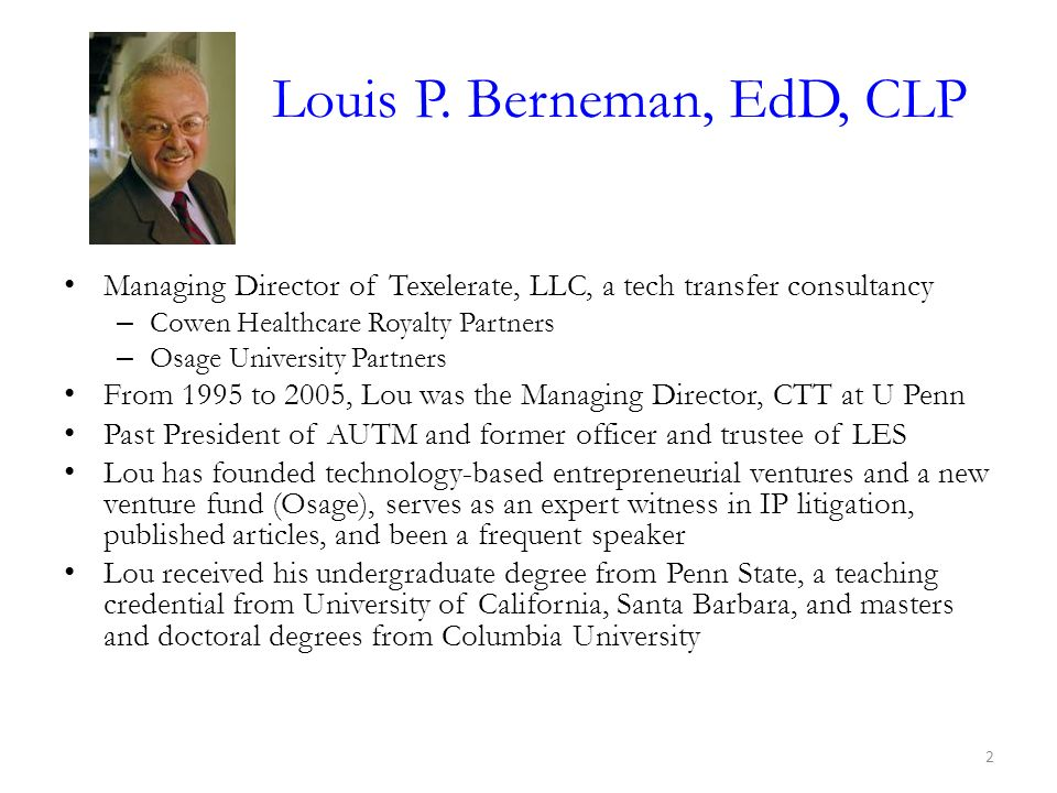 Louis P. Berneman, EdD, CLP