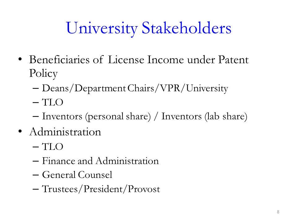 University Stakeholders