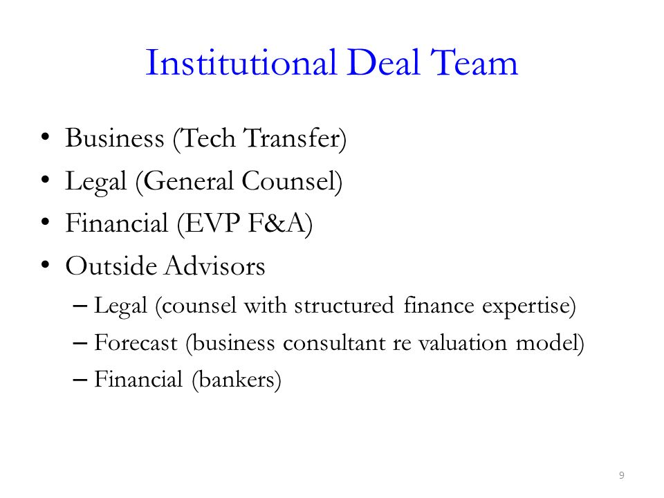 Institutional Deal Team