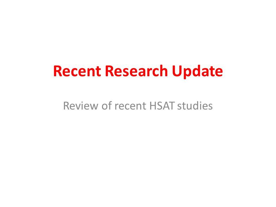 Recent Research Update