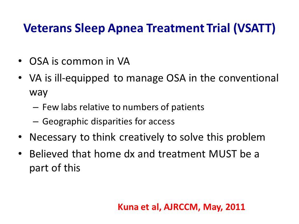 Veterans Sleep Apnea Treatment Trial (VSATT)