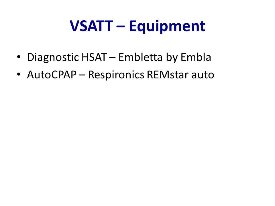 VSATT – Equipment Diagnostic HSAT – Embletta by Embla