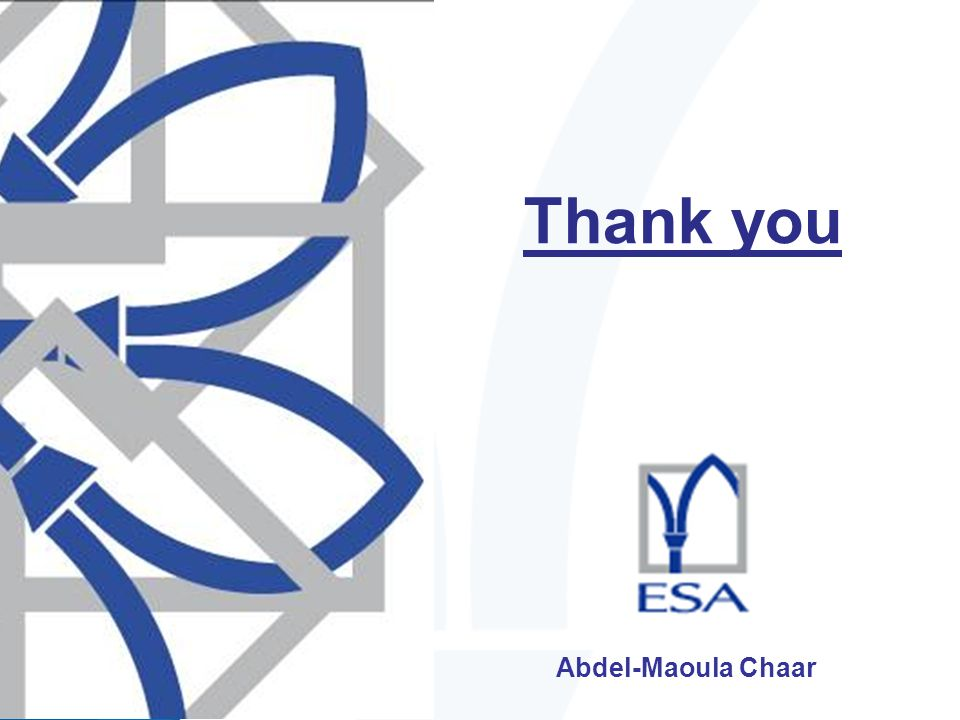 Thank you Abdel-Maoula Chaar