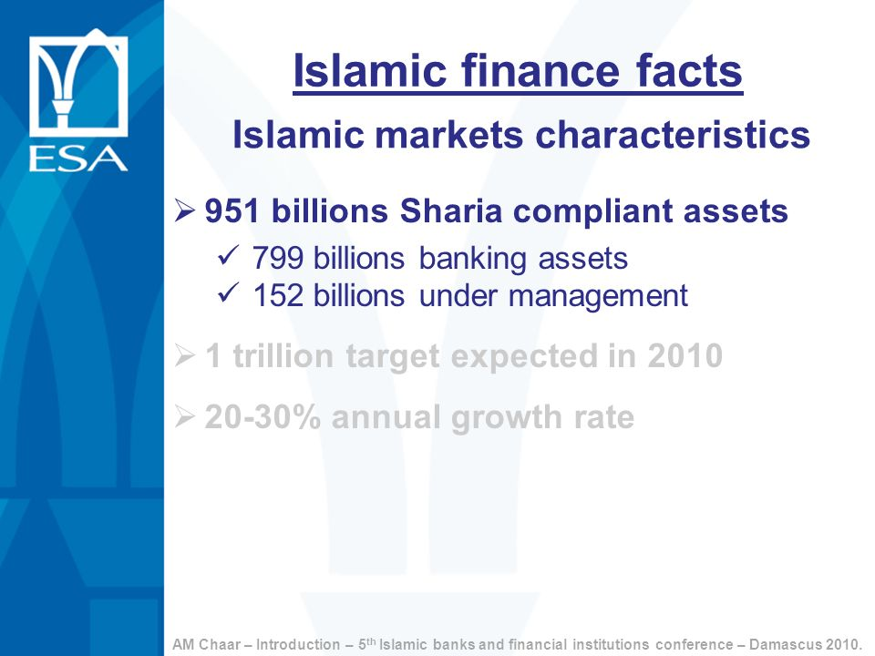 Islamic markets characteristics
