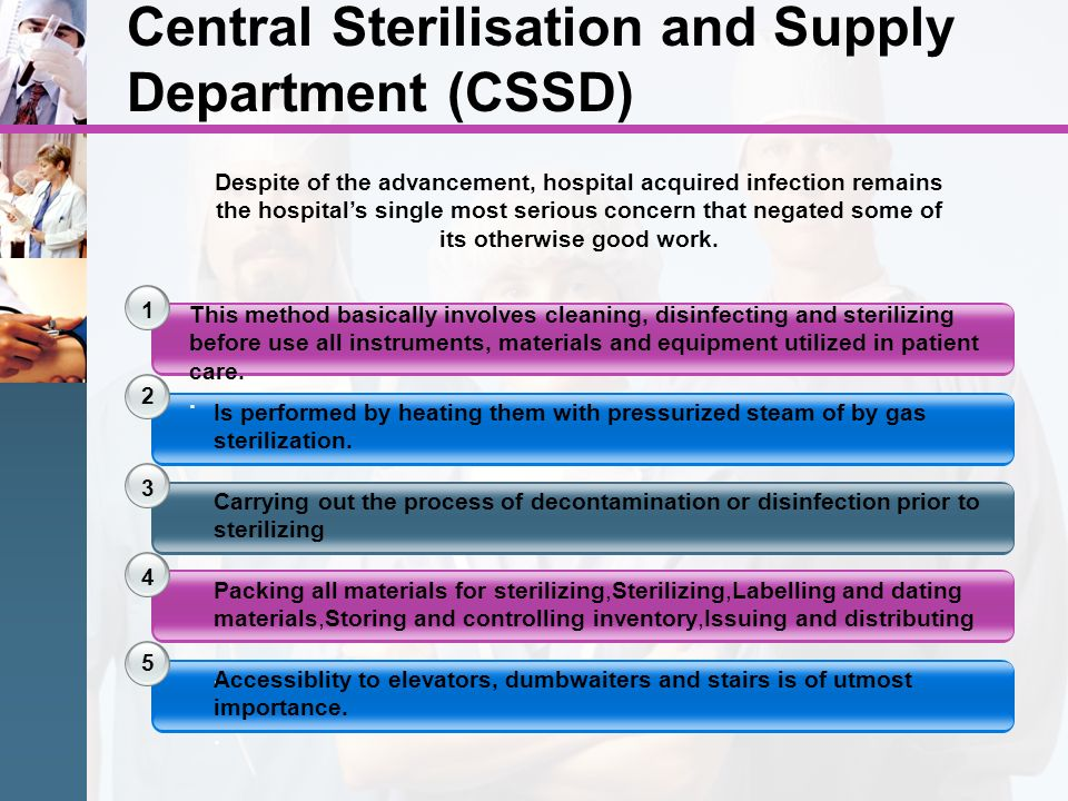 Central Sterilisation and Supply Department (CSSD)