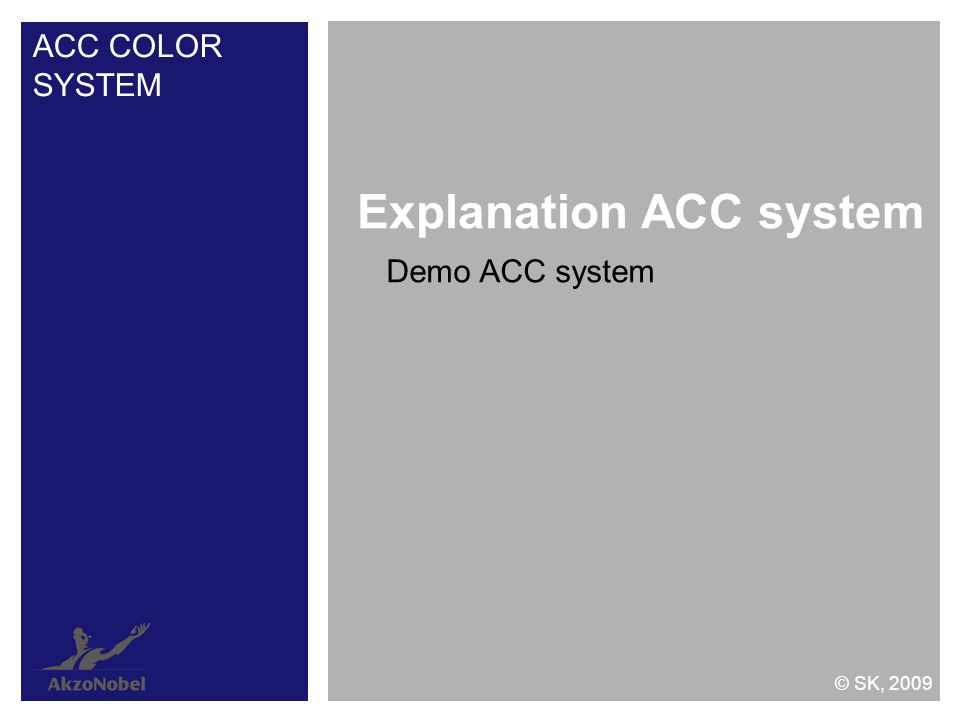Explanation ACC system