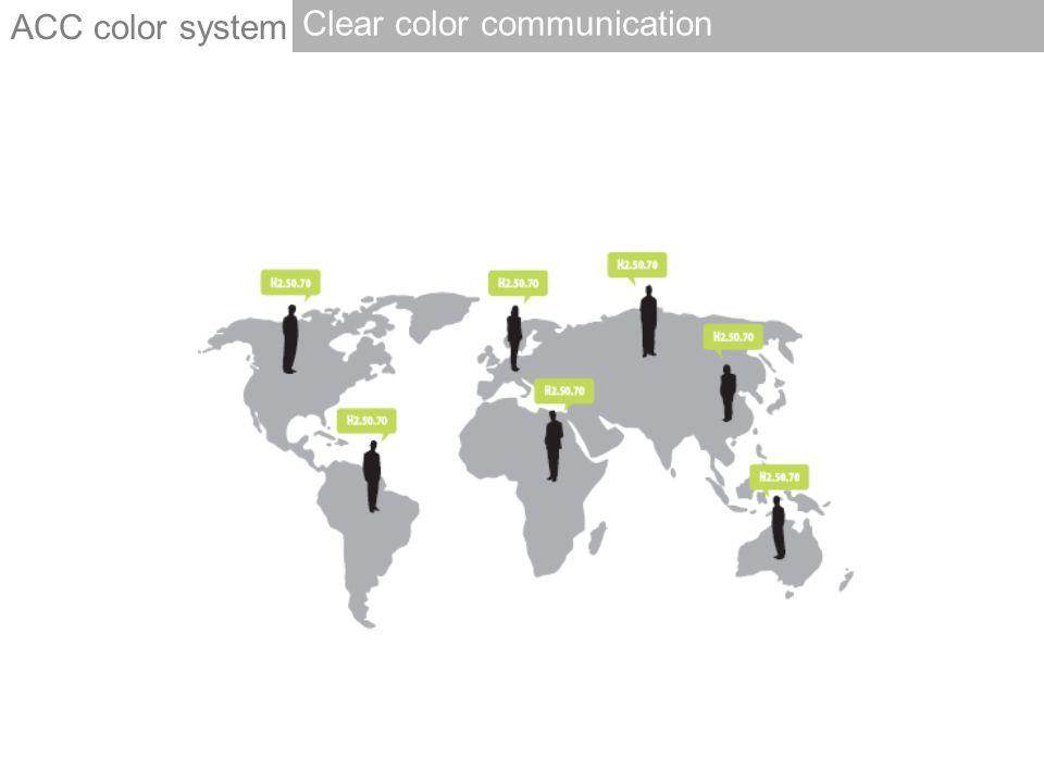 ACC color system Clear color communication