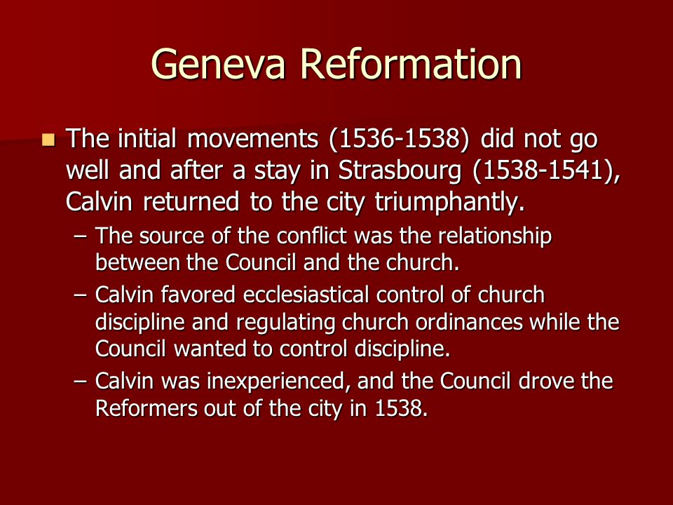 Geneva Reformation