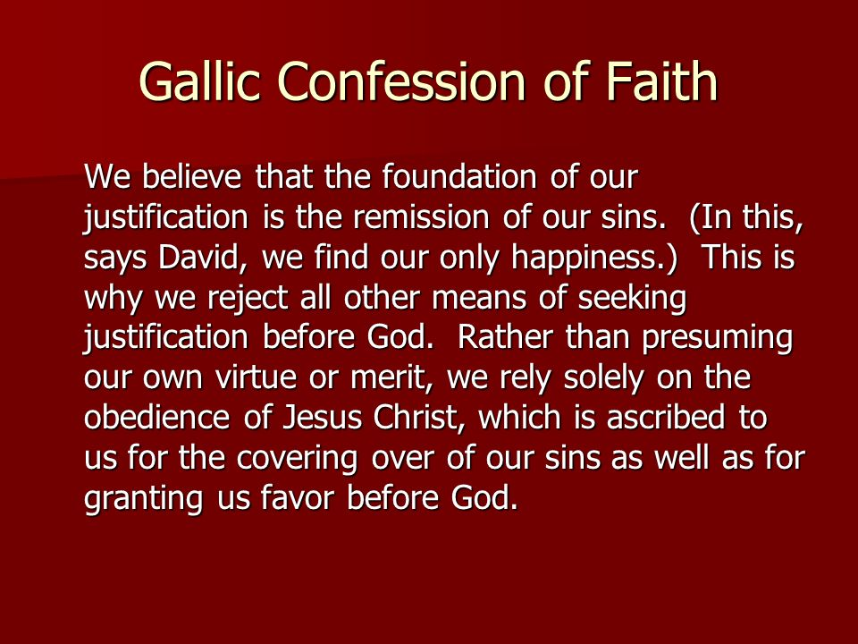 Gallic Confession of Faith