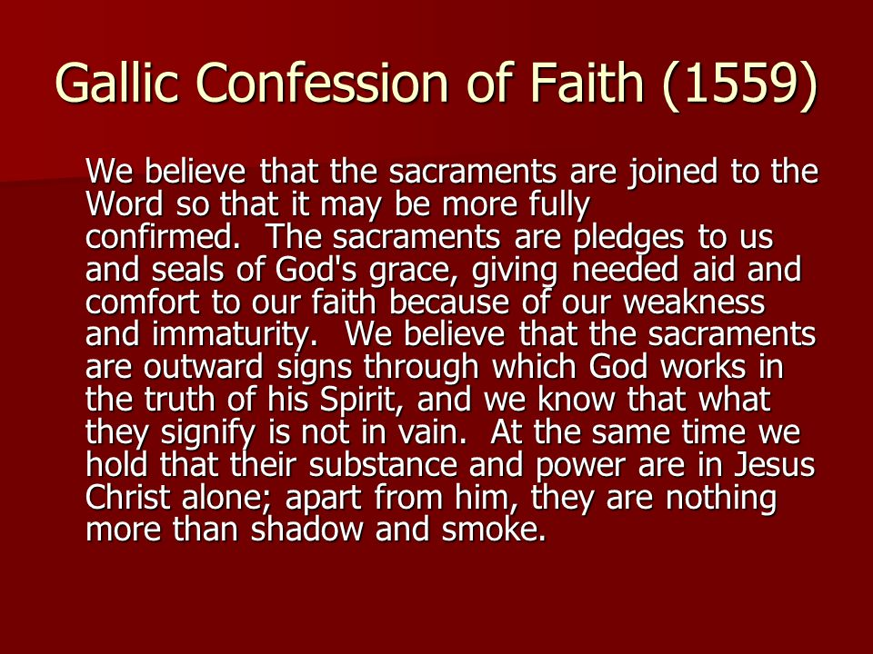 Gallic Confession of Faith (1559)