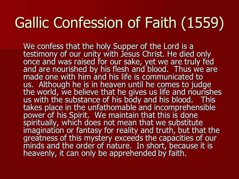 Gallic Confession of Faith (1559)