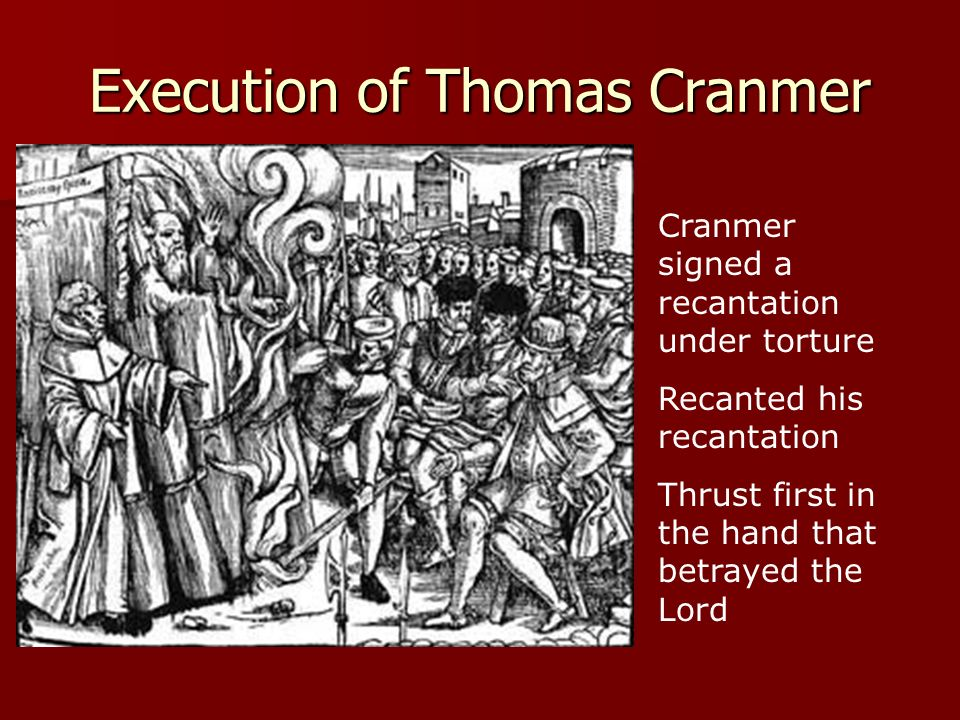 Execution of Thomas Cranmer