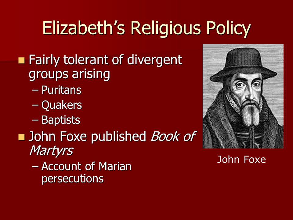 Elizabeth's Religious Policy